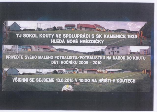 Pozvánka na nábor nových fotbalistů